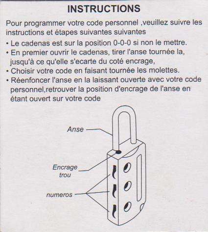 Moderne Notices et doc sur les cadenas. | Mes cadenas YD-08